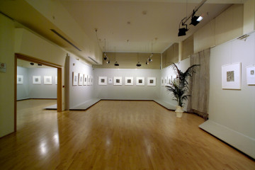 110 Allestimento della Mostra Donato Di Zio. Dentro al Pelago, a cura di Gillo Dorfles, al Museo d'Arte Moderna Vittoria Colonna di Pescara, 2006