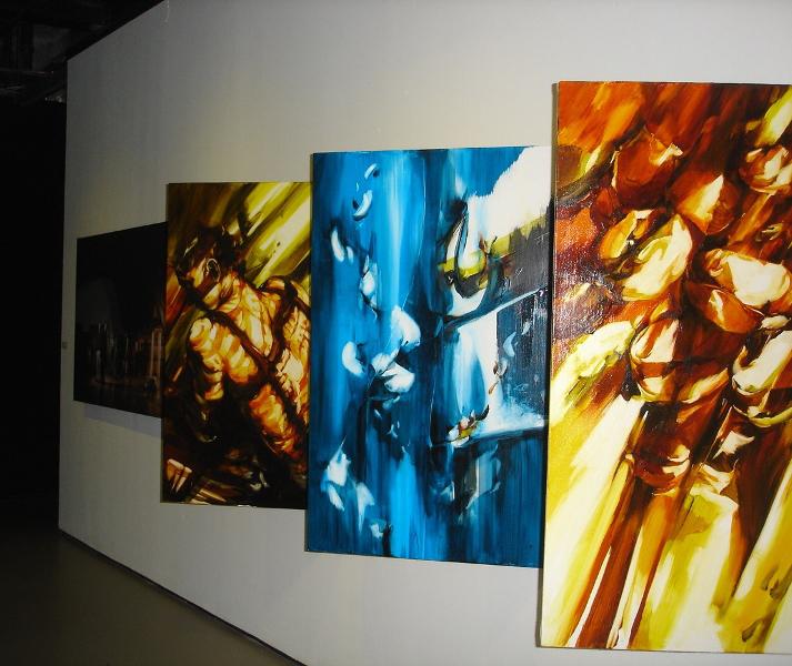 Tae Hyung Kim & Ha Neul Shin_Sa-Yook-Shin, Photography & Oil painting, 2013