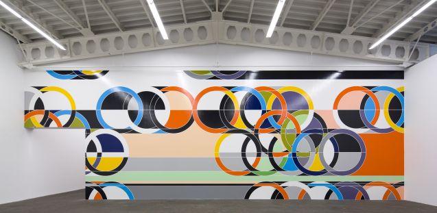 Sarah Morris 1972 [Rings], 2006-2013, Entwurf für Wandmalerei © Sarah Morris