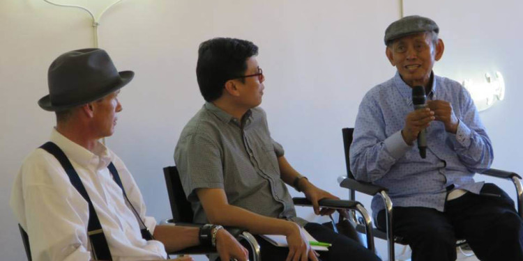Adam Nankervis, Patrick Flores, David Medalla at Palazzo Mora - Conference (August 2015)