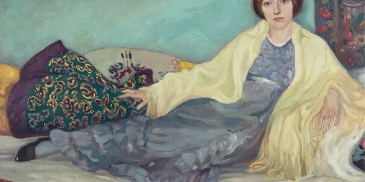 Jeanne Mammen Schwester im Atelier um 1913 Öl auf Leinwand 108,5 x 155,5 cm Berlinische Galerie, Landesmuseum für Moderne Kunst, Fotografie und Architektur © VG Bild-Kunst, Bonn 2015 © Foto: Kai-Annett Becker