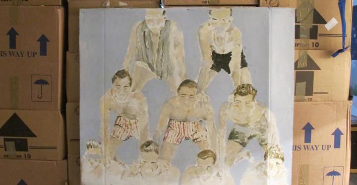 Nina de Felice painting