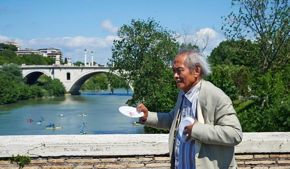 David-Medalla-Ponte-Milvio - Roma - 2016