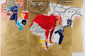 Basquiat Warhol-dog-1984