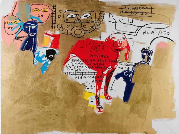 Basquiat Warhol-dog-1984