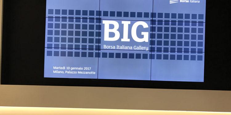 presentazione BIG Gallery, Borsa Itaiiana di Milano