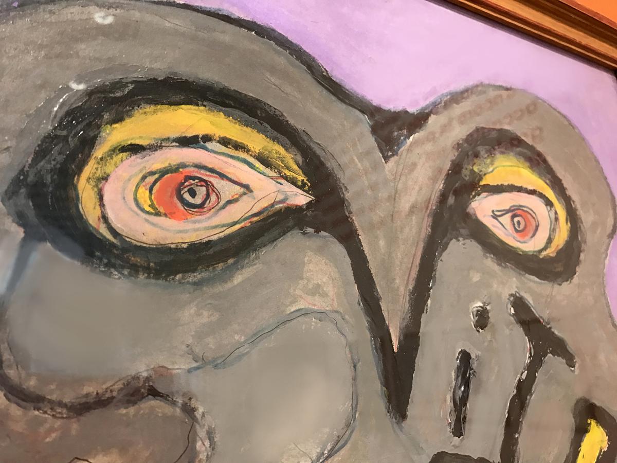 """Gillo Dorfles, particolare """"Vitriol"""", 2010, acrilico e olio su cartone, 63 x 48 cm"""