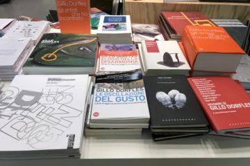 libri Gillo Dorfles, bookshop La Triennale