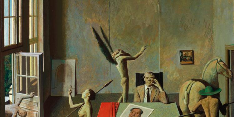 Liu Ye,Atelier,1991,Acrylic and oil on canvas,45×45cm