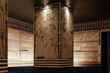 Ricostruzione in scala della sala a pilastri della tomba di Amenofi II - Particolare