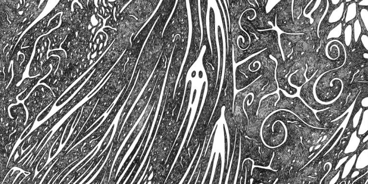 21 Pelagoventuno, 1997 Matita e inchiostro nero su carta, 35 x 35 Cm