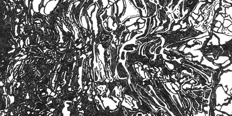 8 Pelagootto, 1995 Matita e inchiostro nero su carta, 35 x 35 Cm