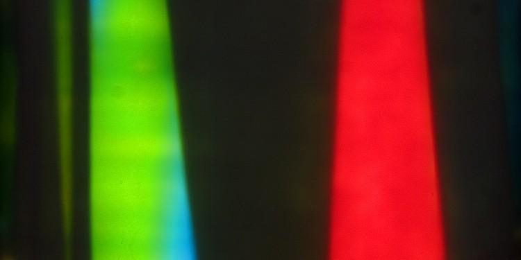 Frank J. Malina: Geometria I, kinetikus festmény, Lumidyne rendszer, 80x60 cm, 1961. / Frank J. Malina: Geometry I, kinetic painting, Lumidyne system, 80x60 cm, 1961