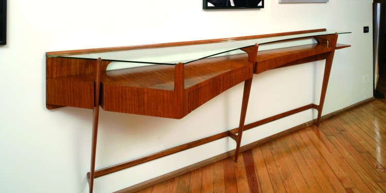 Ico Parisi Italian Walnut Console, Italy 1951 Courtesy of Galleria Rossella Colombari, Italy