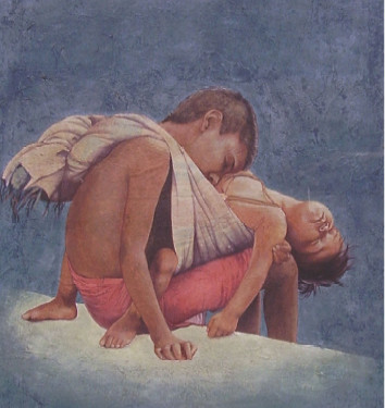 CHILD, GAUCHE BY ARPAN, ARPAN DAS, ANASTASIA GALLERY