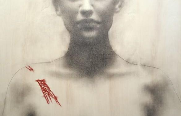 Nuove anatomie, 2003 - matita e pigmento su tavola cm 251x185_1