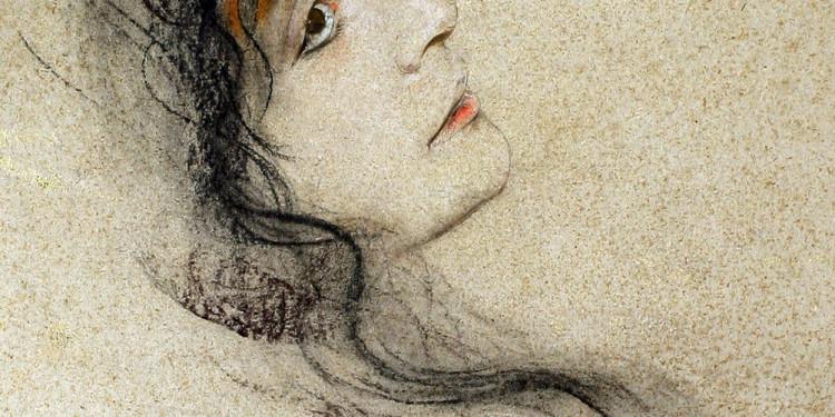 Franz von Lenbach, Ritratto di Eleonora Duse, 1885 Dipinto a tecnica mista su cartone Venezia, Fondazione Giorgio Cini