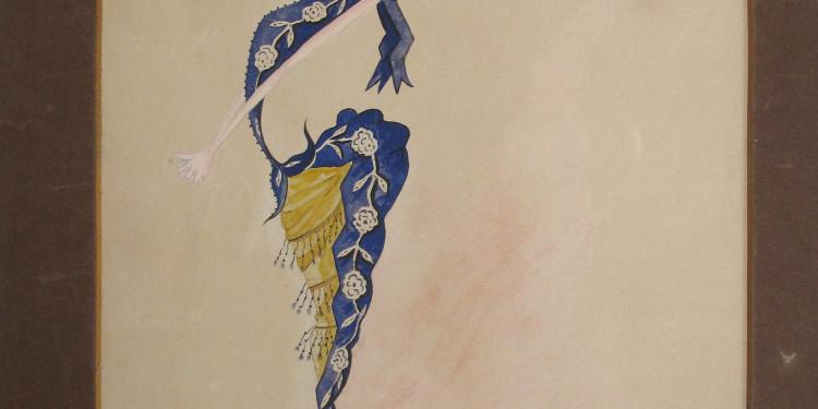Achille Tellini Eleonora Duse, 1889 Acquerello su carta