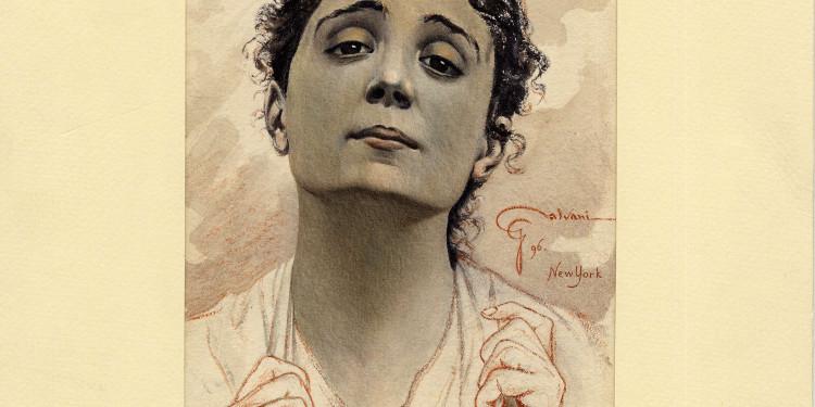 Ciro Galvani Eleonora Duse, Santuzza in Cavalleria Rusticana di Giovanni Verga New York, 1896
