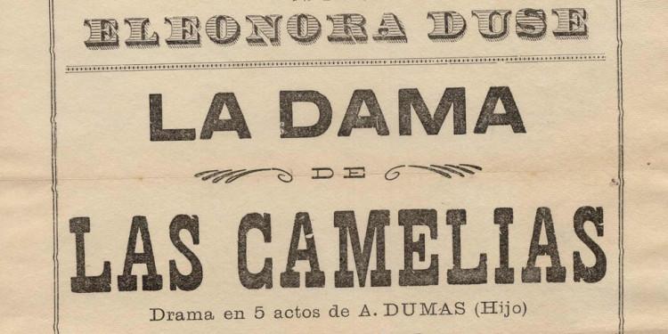 La dama de las camelias Teatro Colon, 21 settembre 1907 Locandina