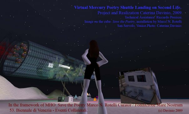 Caterina Davinio, Virtual Mercury Shuttle on Second Life (Night), 2009
