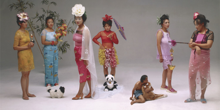 Wang Qingsong Chinese, born 1966 New Women, 2000 Chromogenic printImage: 120 x 220 cm (47 1/4 x 86 5/8 in.) The J. Paul Getty Museum, Los Angeles© Wang Qingsong 2009.18.2