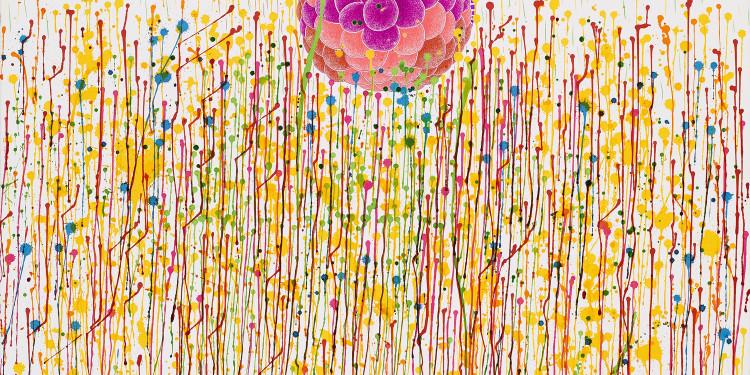 TZENG Yong-Ning (CENG Jung-ning): Pompás 9. 2009. 75 x 107 cm. golyóstoll, tus, papír. A művész tulajdona. / TZENG Yong-Ning: Splendid 09. 2009. 75 x 107 cm. ball point pen, ink, paper. Courtesy of the artist.