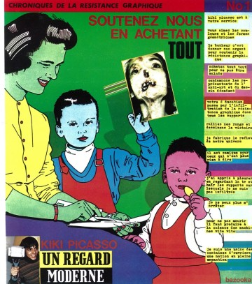 Chronique de la resistance graphique n°1,Kiki Picasso, page imprimée dans Hara Kiri n°199, magazi