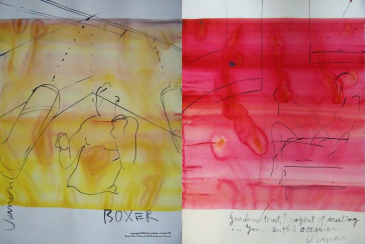 Boxer. 75x55 cm, Uemon Ikeda copyright©2009 U. Ikeda - Studio MB + Red Woman, 75x55cm Uemon Ikeda