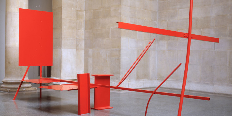 Anthony Caro Early One Morning, 1962 Painted steel and aluminium 289.6 x 619.8 x 335.5 cm Tate, London Photo John Riddy / Copyright Tate, London 2010 Copyright Barford Sculptures Ltd/The artist