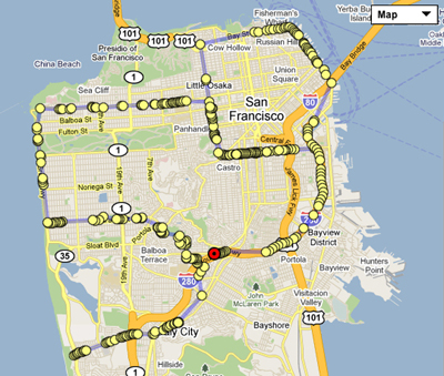 SAN FRANCISCO MAP San Francisco has the highest year round