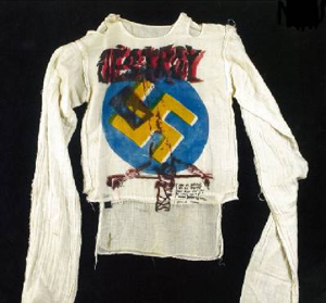 Malcolm McLaren & Vivienne Westwood, Destroy shirt, 1976-1977, printed muslin, Stolper/Wilson Collection.