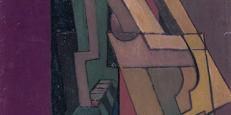 Lawrence Atkinson Astratto, c. 1915-1920. Olio su tavola Arts Council Collection, Southbank Centre, Londra Image courtesy of Arts Council Collection, Southbank Centre, London