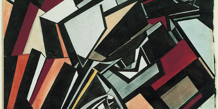 Wyndham Lewis Composizione, 1913 Penna, acquerello e matita su carta Tate, Londra. Acquisto 1949. Image courtesy of Tate Photography © By kind permission of the Wyndham Lewis Memorial Trust (a registered charity)