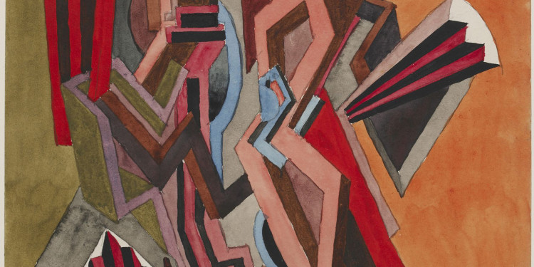 William Roberts Studio per il dipinto perduto 'Two-Step', 1915 Matita, acquerello e guazzo ©Trustees of the British Museum, Londra © The Estate of John David Roberts. By courtesy of the W