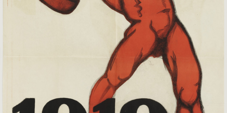 "Mihály Biró (Hungarian, 1886-1949). 1919 Május 1 (May 1, 1919). 1919. Lithograph, 49 5/8 x 37 3/8"" (126 x 95 cm). The Museum of Modern Art, New York. Gift of Joseph H. Heil, by exchange, 2010."