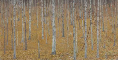 숲의 내부 Interior of a Forest (Detail Image) 2010-2011 Acrylic on paper 75 x 428 cm