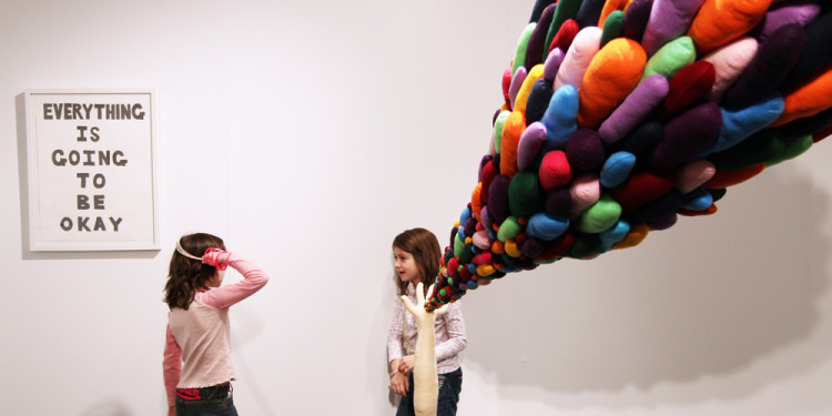 Charley Friedman, Left: Untitled 2009, Right: Magic Powers 2010, Gallery Diet, Miami, Ph:courtesy of Carrie Villines