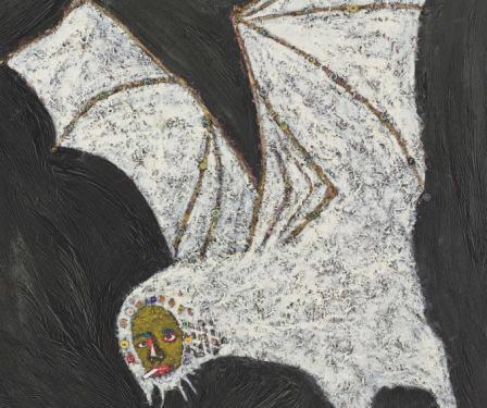 Rik Meijers Bat, 2011 240 x 180 cm Mixed media on canvas