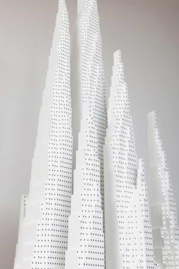 Jeroen van Bergen, tower composition 003 intersection, 2011 (detail) Foto Peter Cox
