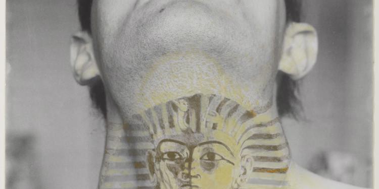 ION GRIGORESCU Autoportrait avec Tutankhamon 60x50cm