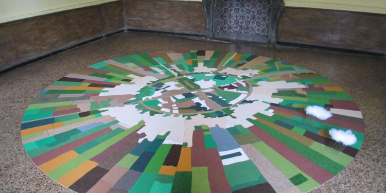 GAL WEINSTEIN Nahalal (Partly Cloudy), 2011 MDF, moquette, acrylan, plexiglas / MDF, carpets, acrylan, plexiglas Courtesy Galleria Riccardo Crespi, Milano Photo: Uliva Velo