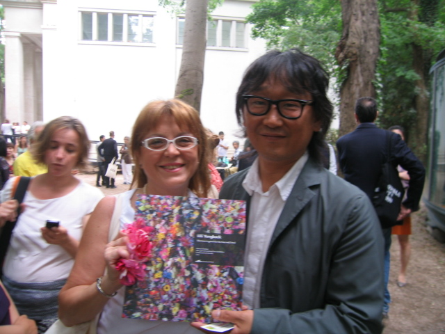 LEE YONG-BACK and RAFFAELLA LOSAPIO at the Venice Biennal 2011