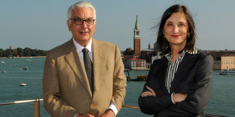 Paolo Baratta President Biennale VE, Bice Curiger Director 54 Intern. Art Exhib.–Biennale VE Ph: G.Zucchiatti C. Biennale VE