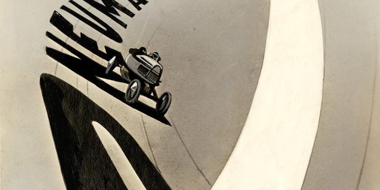 MOHOLY-NAGY László Pneumatik, 1924 Ceruza, tinta, festékszóró, tempera fotópapíron, 16 x 12,7 cm E. Zyablov, Moszkva ©Hattula Moholy-Nagy/VEGAP 2011