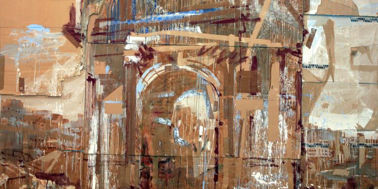 Valery Koshljakov, Arco 1996 Cartone ondulato, tempera Arch 1996 Cardboard, tempera