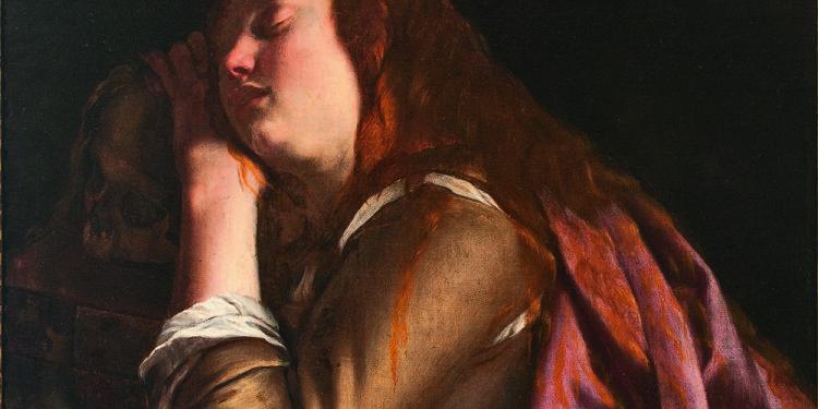 Artemisia Gentileschi Maddalena 1630 circa Olio su tela, cm 100 x 73 Sorrento, Museo Correale di Terranova, inv. 2925 © Foto Massimo Velo, Napoli