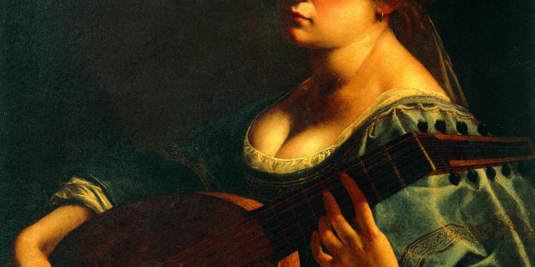 Artemisia Gentileschi Autoritratto come suonatrice di liuto 1617-18 circa Olio su tela, ,cm 65,5 x 50,2 Minneapolis, Curtis Galleries, inv. 1998.07.09 1 © Curtis Galleries, Minneapolis, Minnesota