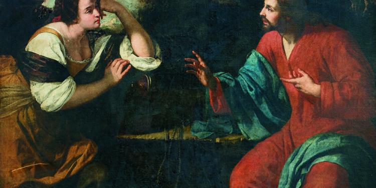 Artemisia Gentileschi Cristo e la samaritana al pozzo Ante 1637 Olio su tela, cm 267,5 x 206 Collezione privata © Collezione Privata