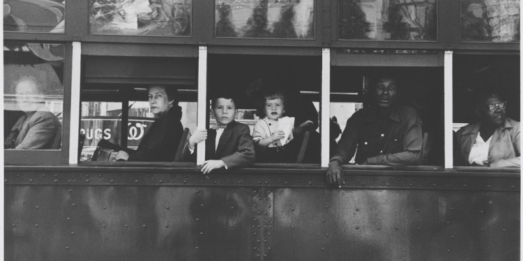 Robert Frank Trolley Car, New Orleans, Louisiana, 1955 Gelatin silver print © Robert Frank, from The Americans